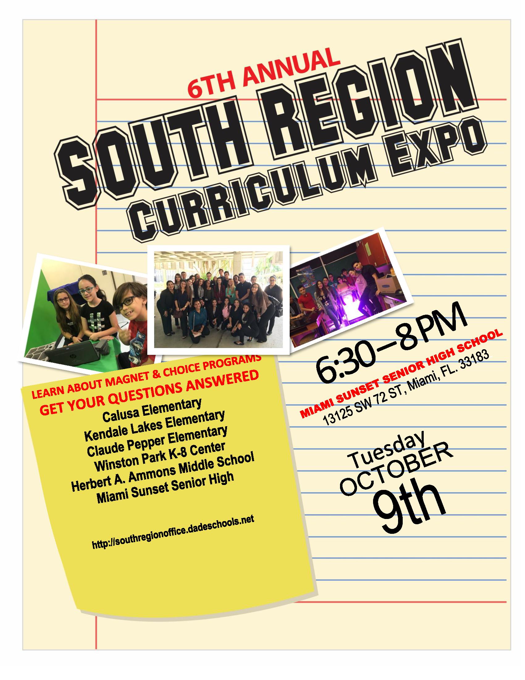 Curriculum Expo at Sunset Senior