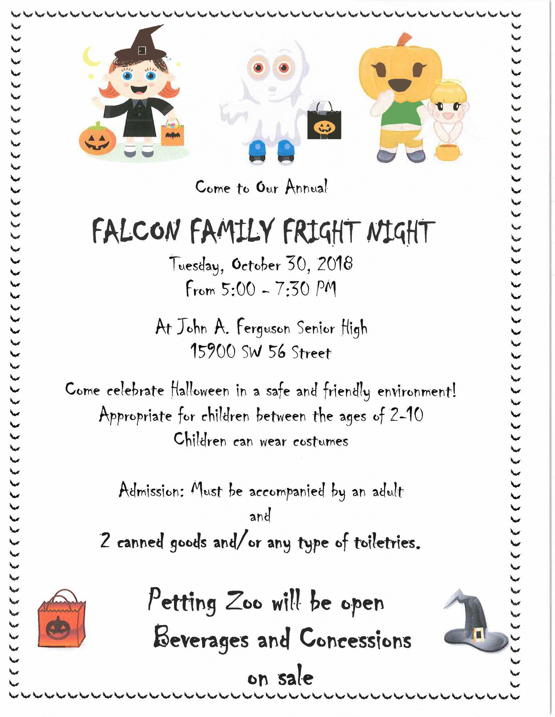 Falcon Family Fright Night @ John A. Ferguson Senior High